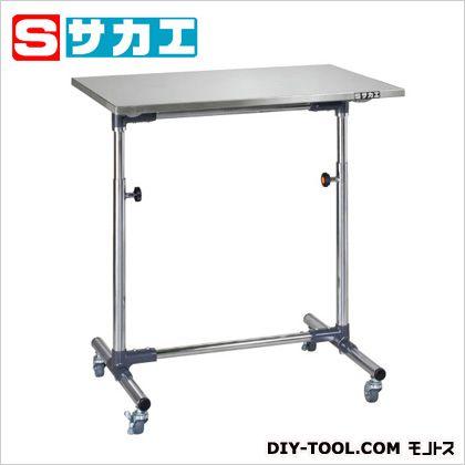 【送料無料】サカエ 軽量セルワーク作業台(シングル脚) ステンレス W750×D500×H700〜1000mm CL7550SUM
