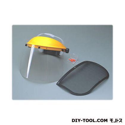 刈払い作業用フェースプロテクター イエロー  SV-0115