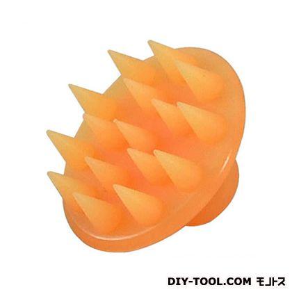 セーブ・インダストリー シリコンシャンプー&マッサージブラシ オレンジ SV-8786