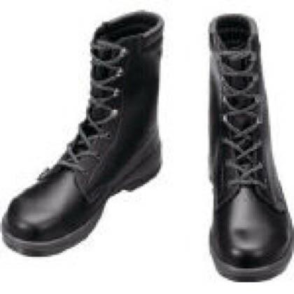 シモン 安全靴長編上靴7533黒24.0cm 7533N-24.0