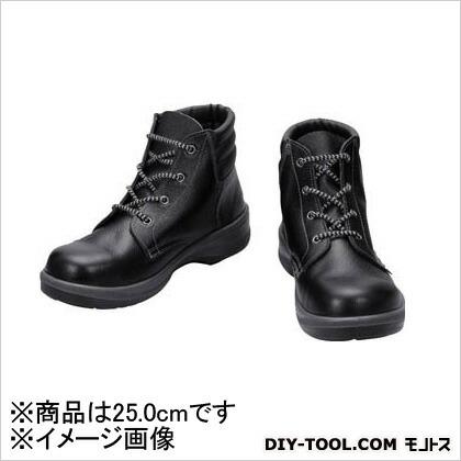 シモン 安全靴編上靴7522黒25.0cm 7522N-25.0