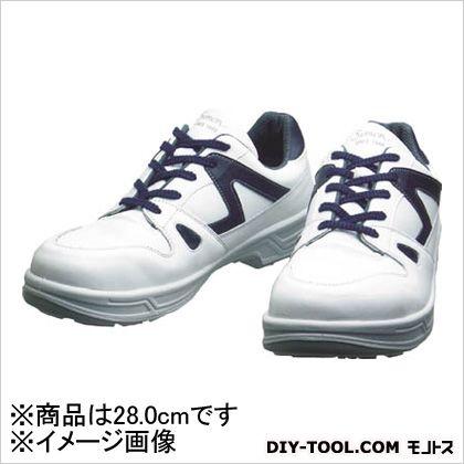 【送料無料】シモン 安全作業靴短靴8611 白/ブルー 28.0cm 8611WB28.0 0