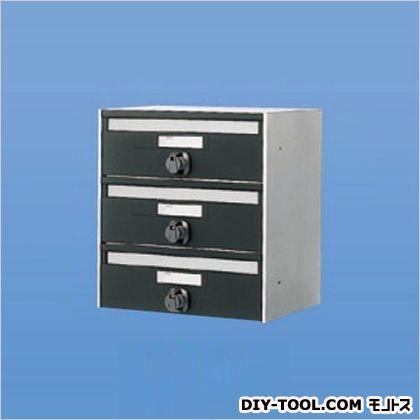 【送料無料】神栄ホームクリエイト 郵便受箱(連結型・ダイヤル錠付)前入前出型 SMP-13-3 0