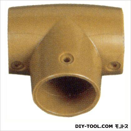 シクロケア 手すり屋内用樹脂ブラケットT型 チーク 6×6.5cm 3008