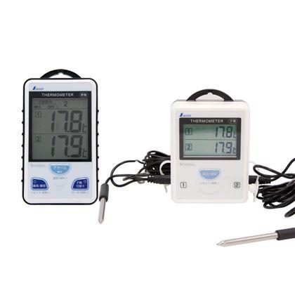 ワイヤレス温度計 A 最高・最低隔測式ツインプローブ 防水型 ホワイト  73241 親機+子機 1 セット