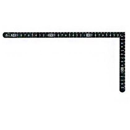 シンワ曲尺小型サンデーカーペンター色30cm×15cm表裏同目 黒 1.3×163×330mm 12435