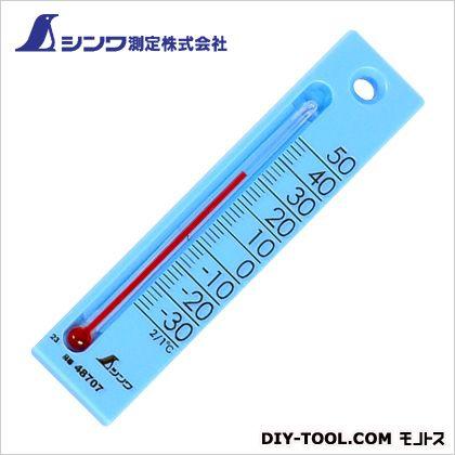 シンワ測定 温度計プチサーモスクエア ブルー 7×28×120mm 48707