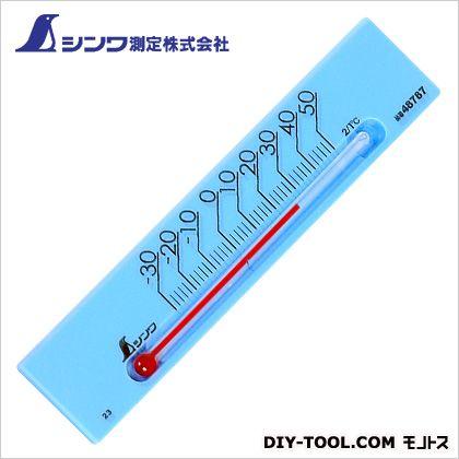 シンワ測定 温度計プチサーモスクエア ブルー 7×3×135mm 48787