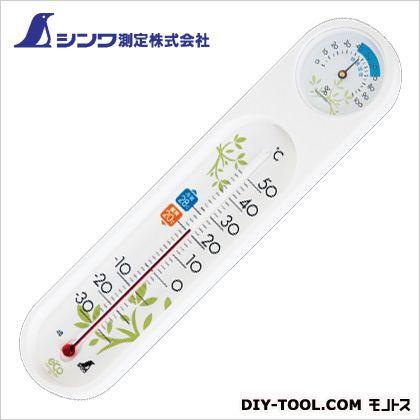シンワ測定 温湿度計PCオーバル ホワイト 19×67×295mm 48975