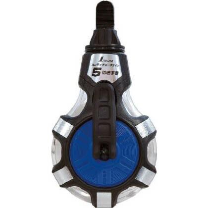シンワチョークライン5倍速手巻粉付3倍太糸 ブルー 58×88×165mm 77560