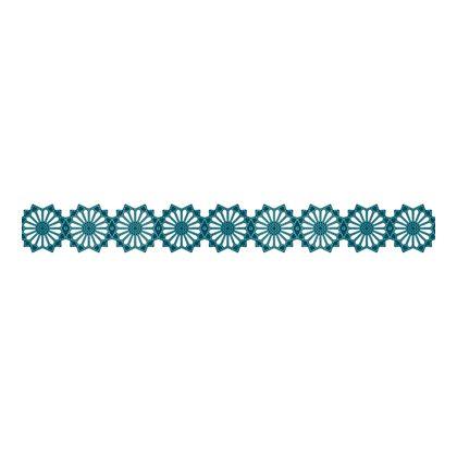 Scandinavian Pattern Collection インテリアレーステープ Blaklint/Cornflower 緑 34mm×5m S