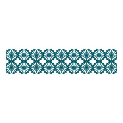 Scandinavian Pattern Collection インテリアレーステープ Blaklint/Cornflower 緑 66.5mm×5m