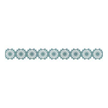 Scandinavian Pattern Collection インテリアレーステープ Blaklint/Cornflower 水色 34mm×5m