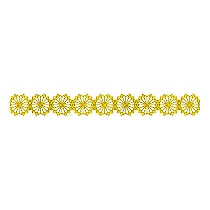 Scandinavian Pattern Collection インテリアレーステープ Blaklint/Cornflower 黄 34mm×5m S