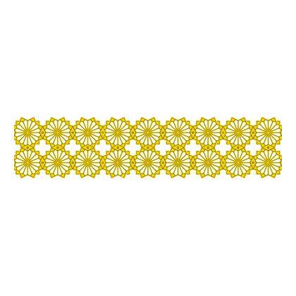 Scandinavian Pattern Collection インテリアレーステープ Blaklint/Cornflower 黄 66.5mm×5m