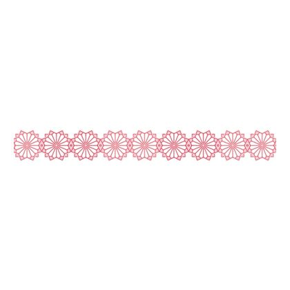 Scandinavian Pattern Collection インテリアレーステープ Blaklint/Cornflower ピンク 34mm×5m