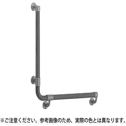 【送料無料】シロクマ L形丸棒手すり(左) シルバー/Lオーク 600×600mm BR-517L 1組