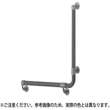 【送料無料】シロクマ L形丸棒手すり(右) シルバー/Lオーク 600×600mm BR-517R 1組