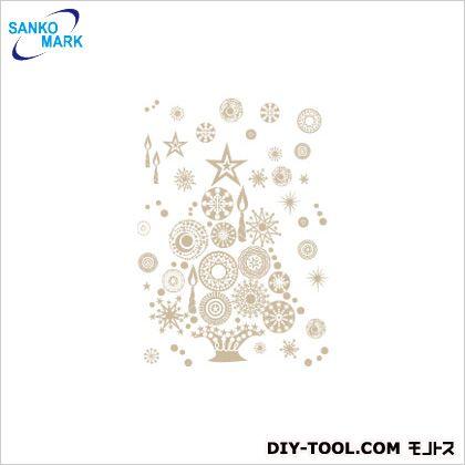 サンコーマーク工業 クリスマスツリー ウォールステッカー 金 JWS-62