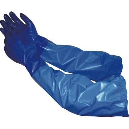 エステー NO660ニトリルモデルブルー腕カバー付手袋L NO660BBL