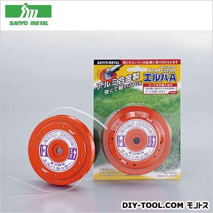 ナイロンカッターエルバAタイプ 赤 外径120mm、高さ30mm、ナイロンコード0.5m2本付 134302  個