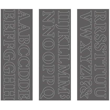 ウォールステッカー アルファベット ミニオンプロ 大文字 WS-02SQGY squ+  約縦10.3×横29.6(cm) 250198
