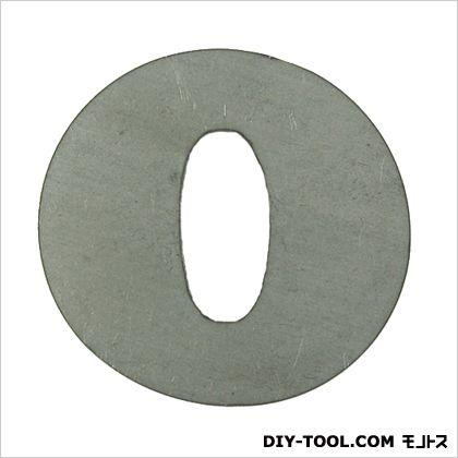 スズキッド スチールマテリアル 切文字O 40×38×2 FSM-O 溶接 表札