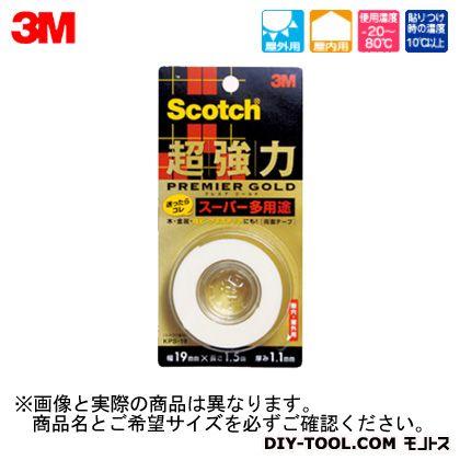 スコッチ超強力両面テーププレミアゴールド(スーパー多用途)  12×1.5 KPS-12