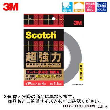 スコッチ超強力両面テーププレミアゴールド(スーパー多用途)粗面用  12×4 SPR-12