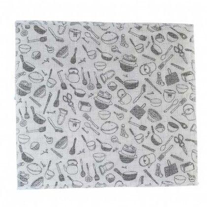 スパイス 蚊帳とガーゼのふきん 道具 布巾 ブラック 約縦30×横30(cm) BHLG2010