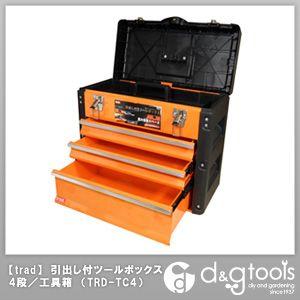 【送料無料】TRAD 引き出し付ツールボックス4段 オレンジ TRD-TC4 スチール製 工具 収納 工具箱 1