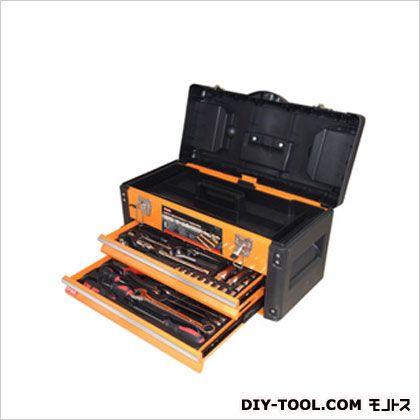 引き出し付ツールボックス70PCツールセット3段/工具箱 オレンジ  TTS-70