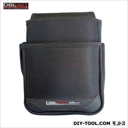 2段腰袋(大) ブラック H250×W190×D130mm DT-02-BK