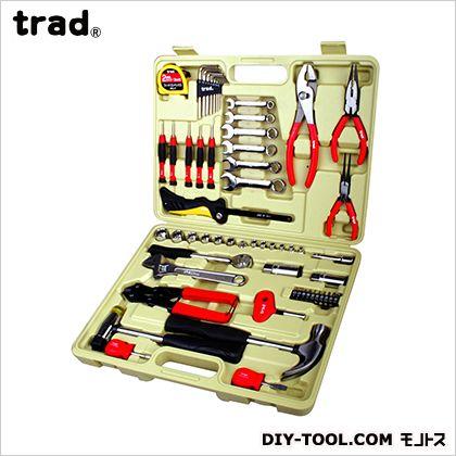 【送料無料】TRAD 工具 セット H310×W405×D78mm TS-58 工具箱 ツールセット 手動工具セット