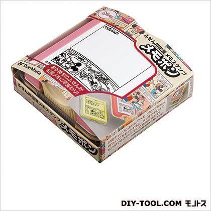メモポン(ふせん用伝言メモスタンプ)コミックス/フリーメモ  印面:60mm×60mm PET-D2-F1