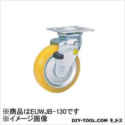 【送料無料】シシク 静電気帯電防止キャスター自在ストッパー付130径ウレタン車輪 164 x 143 x 176 mm EUWJB130
