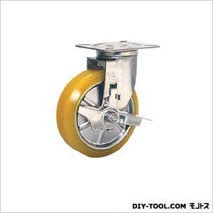 【送料無料】シシク ステンレスキャスター制電性ウレタン車輪自在ストッパー付 200 x 175 x 115 mm SUNJB150SEUW