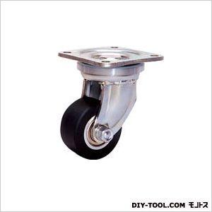 【送料無料】シシク 低床超重荷重用キャスター80径ユニクロメッキMCMO車輪 127 x 111 x 140 mm DHJ-80U-MCMO