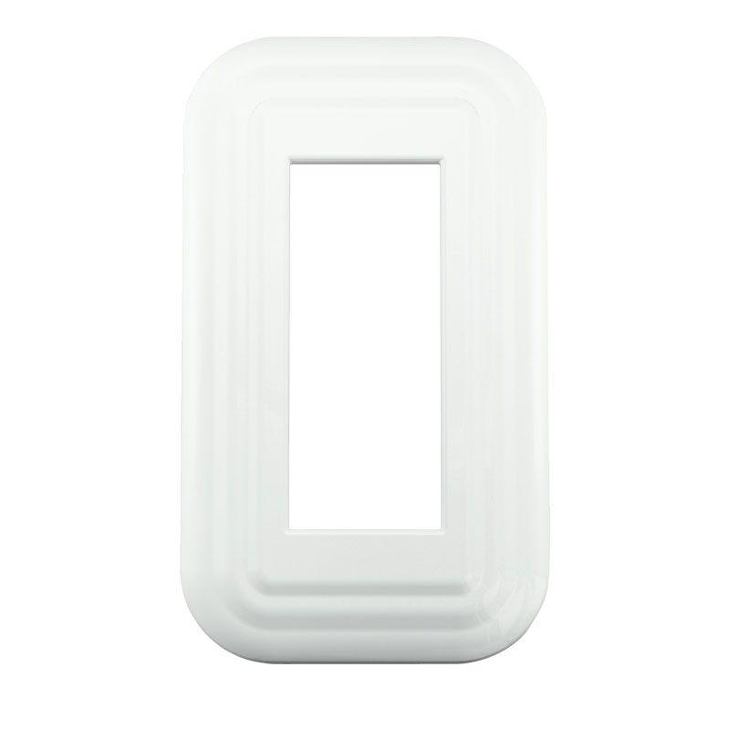 プレミアムホーロースイッチ・コンセントプレート ホワイト 73×125×8.2mm PXP-HH01-WT