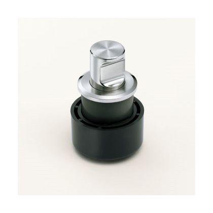 【送料無料】スガツネ(LAMP) ステンレス鋼(SUS316)製プッシュつまみ ブラック ZL-1908 0