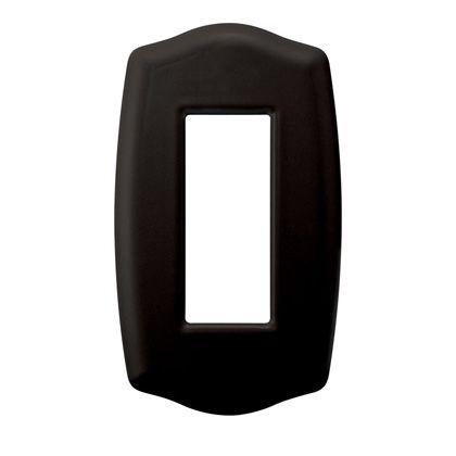 プレミアムホーローベイシックスイッチ・コンセントプレート ブラック 78×134×8mm PXP-HS01-BL