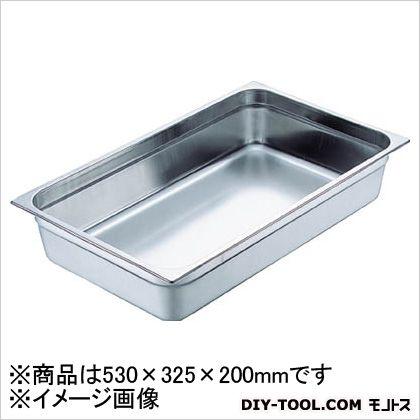 【送料無料】スギコ 18−8スーパーデラックスパン1/1サイズ530×325×200 530 x 325 x 200 mm SH-1918SW