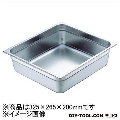 【送料無料】スギコ 18−8スーパーデラックスパン1/2サイズ325×265×200 323 x 263 x 200 mm SH-1528SW
