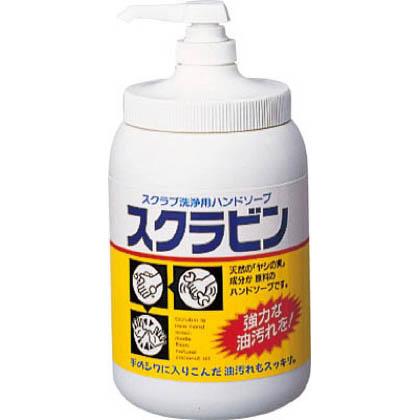 油汚れ用ハンドソープスクラビン1.2kgポンプ付   23104