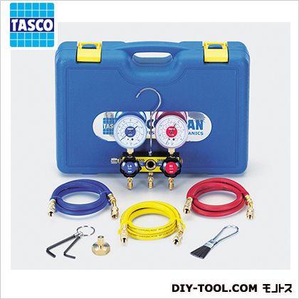 【送料無料】タスコ エアコン工具セット(R22、R12、R500、R502用) 幅×奥行×高さ:410×280×110mm TA11A
