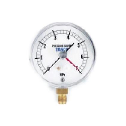 フレアタイプ気密試験用75φ圧力計(7.0MPa設置針式)   TA148AF-270