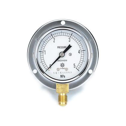 圧力計(1/4''フレア、下出し、60φ、つば付)   TA148F-150