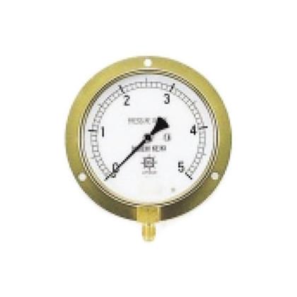 圧力計(1/4''フレア、下出し、100φ、つば付)   TA148F-335
