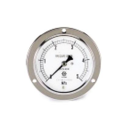 圧力計(1/4''フレア、後ろ出し、60φ、つば付)   TA149F-150