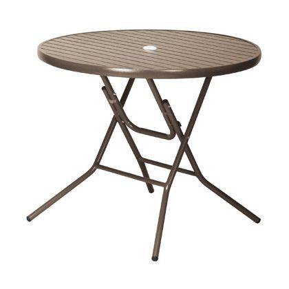 【送料無料】テラモト アルミフォールディングテーブルAL-F90RT ブラウン MZ6102020 1
